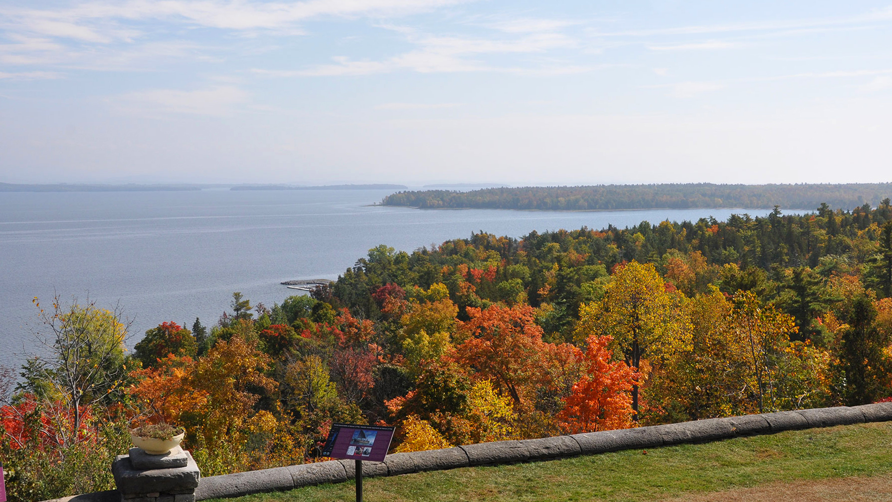 Fall view of Lake Champlain